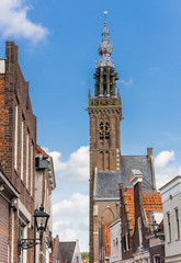 Fotomurales - Historic facades and church tower in Edam