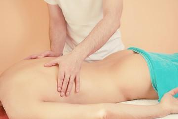 Hands making body massage