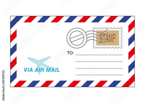 エアメールの封筒イラストfotoliacom の ストック画像とロイヤリティ