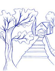 Campagna disegno a penna
