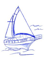 Barca a vela disegno a penna