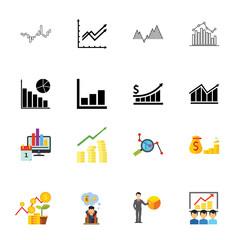 Company budget icon set