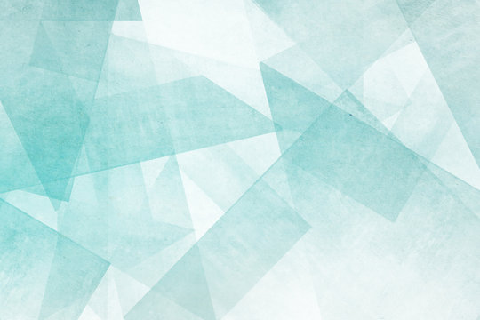 Mosaiksteine - türkis und weiß Abstrakter Hintergrund Design
