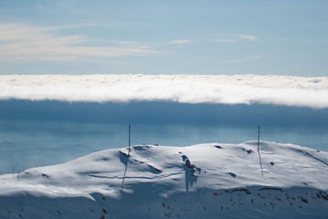Sky, clouds and snow