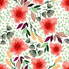Ilustracja wektorowa kwiatowy wzór bez szwu. - 187309332