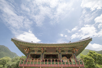 Beautiful old Buddhist temple in Korea