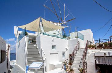 Windmills in Santorini, Greece