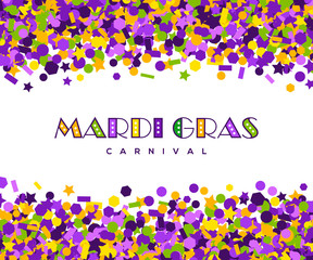 carnival mardi gras confetti greeting card