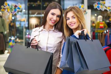 Shot of a beautiful young women going shopping.
