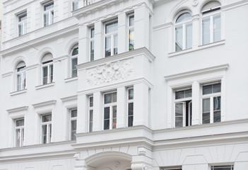 Stuckfassade eines Hauses - Gründerzeit
