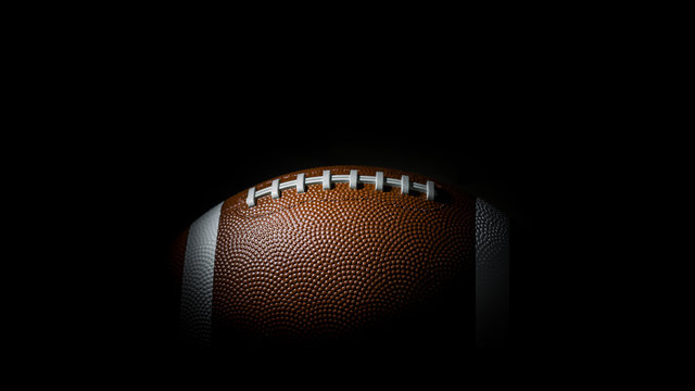 American football on dark background. Super bowl. Wallpaper