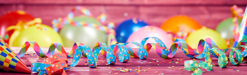 Colorful festive party or carnival banner