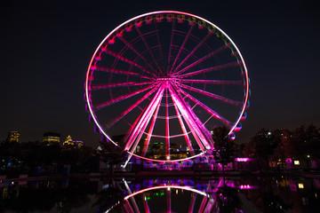 Montreal ferris wheel at night
