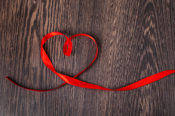 Ribbons in the shape of heart