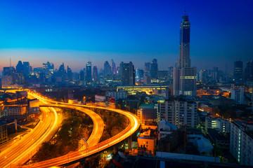 Bangkok cityscape at morning