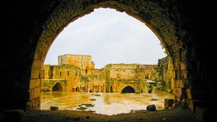 Interior View to Krak des Chevaliers Castle Syria