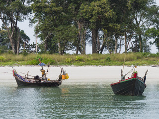 Two small boats in Southern Myanmar