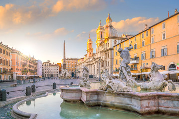 Papiers peints Rome Fountain of Neptune on Piazza Navona, Rome, Italy