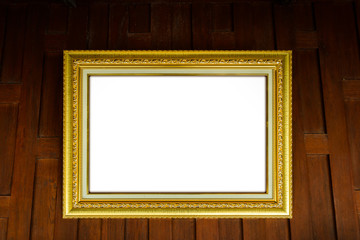 picture frames on wooden thai style wall