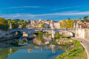 Old town Rome city skyline in Italy