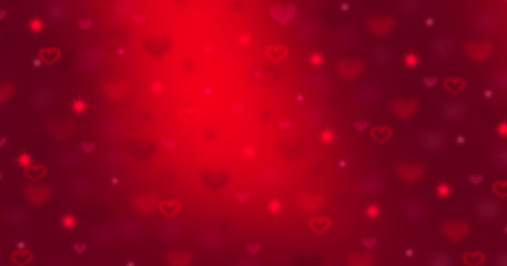 Valentine's Day background. Abstract red hearts holiday backdrop