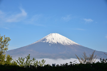 Mount Fuji with blue sky