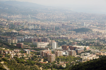Barcelona, Spain - October 14, 2017. Overview of the city.
