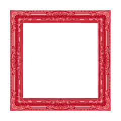 red frame on the white background