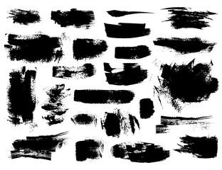 Set of black brushstrokes