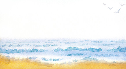 Sea. Watercolor painting