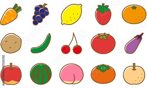 野菜 果物 イラストfotoliacom の ストック画像とロイヤリティフリーの
