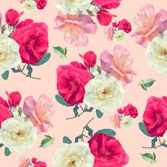 seamless   pattern of rose flowers