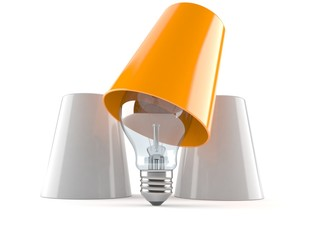 Light bulb with three cups
