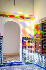 Light reflection, Bahia palace, Marrakech