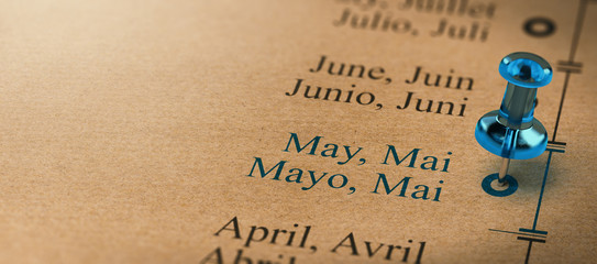 Months of the Year Calendar, Focus on May
