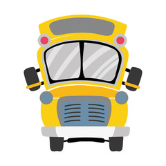 colorful school bus transportation to education travel