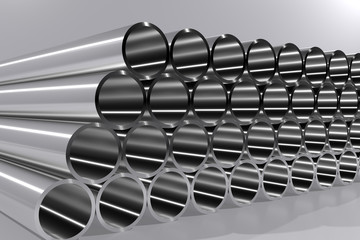 A 3d render of pipes