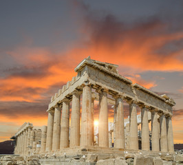 Wall Mural - Greece Athens Parthenon monument sunset