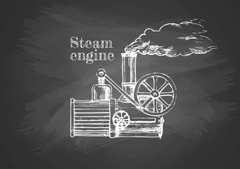 steamer on blackboard
