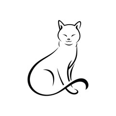 simple cat design white background