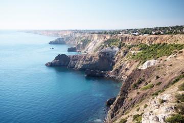 High sea coast settlements