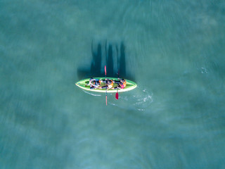 Top View of a kayak