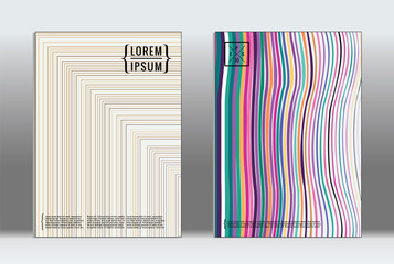 Vector graphic geometric covers.