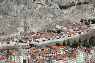 MARCH 11,2012 AMASYA TURKEY.Amasya is a city in northern Turkey . Amasya it is located inside the Black Sea Region. Tokat from east, Tokat and Yozgat from south, Çorum from west, Samsun from north.