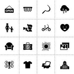 Concept icons. vector collection filled concept icons