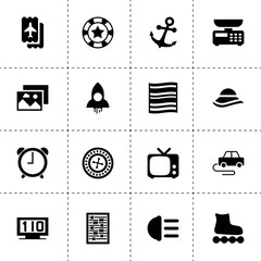 Retro icons. vector collection filled retro icons