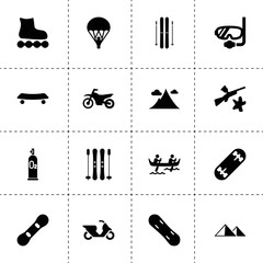Extreme icons. vector collection filled extreme icons