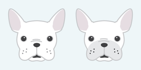 dog vector french bulldog icon logo head face cartoon illustration character white