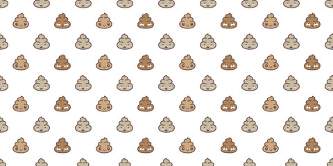 Poo  Seamless pattern vector isolated wallpaper background Cartoon