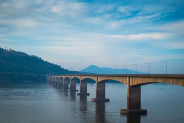 Lao Nippon Bridge in the morning